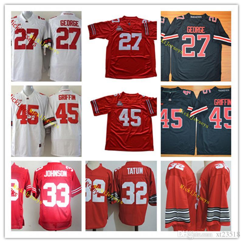 online store 55021 5124a NCAA Ohio State Buckeyes Eddie George College Football Jerseys 45 Archie  Griffin 32 Jack Tatum 33 Pete Johnson Ohio State Buckeyes Jersey