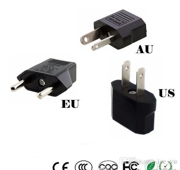 범용 미국 EU AU 플러그 미국 유럽 유럽 여행 벽 AC 전원 충전기 콘센트 어댑터 변환기 2 원형 소켓 입력 핀