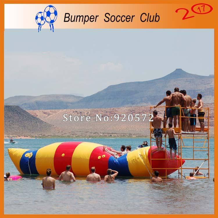 Pompa gonfiabile gonfiabile di salto della borsa di salto dell'acqua della pompa gonfiabile del cuscino gonfiabile dell'acqua di 12 * 3m del trasporto libero