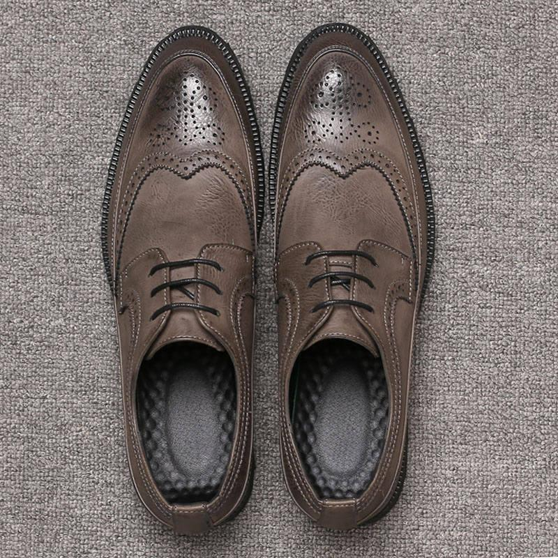 38-48 men leather shoes brogues social shoe male Men elegant designer formal brand sapatenis #MSW8108054
