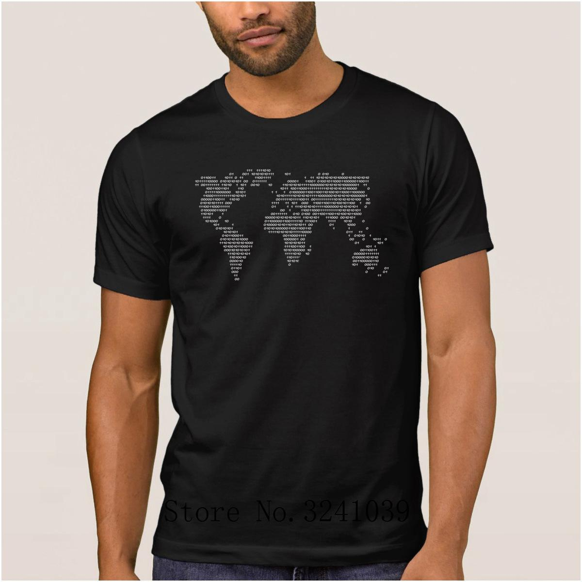 La Maxpa Costume Latest World Code World In Binary T Shirt Men