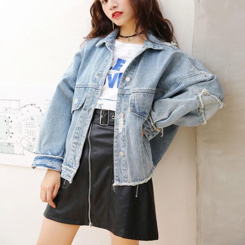 de580f1e411 Fashion 2018 Vintage Women Burr Hem Ripped Frayed Denim Jacket Holes  Pockets Asymmetrical Basic Jackets Overcoats For Men Suit Jackets From  Whitecloth, ...
