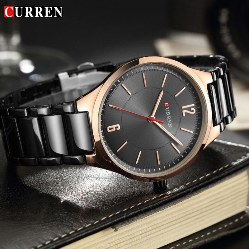 9ce03e04904 Compre Curren Top Marca De Luxo Mens Watch Masculino Relógio De Aço  Inoxidável Relógios Desportivos Homens De Quartzo Relógio De Pulso Casual  Relogio ...