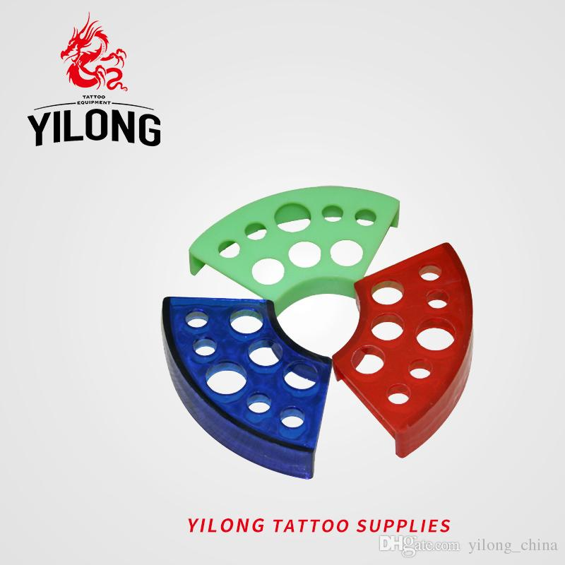 YILONG Top Quality Tattoo Sector Ink Cap Cup Holder Stand Tattoo Accessories Three Colors Tattoo&Body Art
