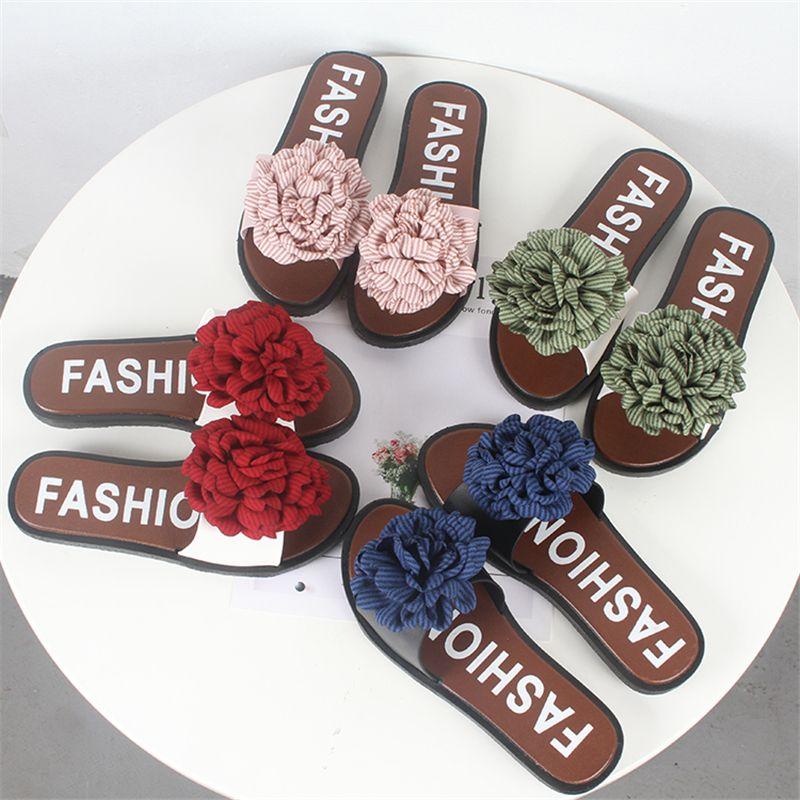 2310534326a Mini Helisha Hot Sale Nice Style Flat Lady Flower Footwear Women PCU Slipper  Shoe Beach Clogs For Women Shoe Boots From Amoybasketballshoes