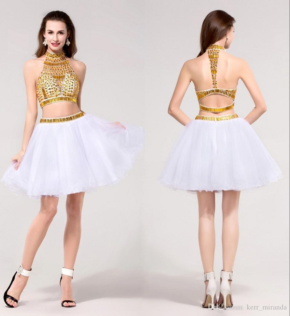 White Short Prom Dresses 2012