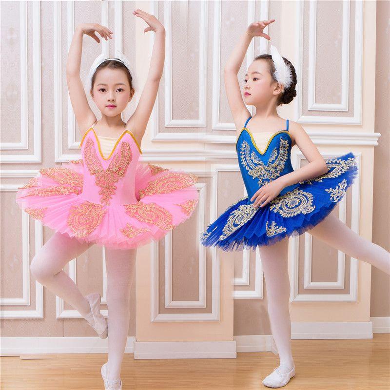 ae178f275 2019 New Professional Swan Lake Ballet Tutu Children Costume Pink Blue  Pancake Ballet Tutu Girls Dancewear Dress For Kids 100 160cm From  Sherry_xiao1989, ...