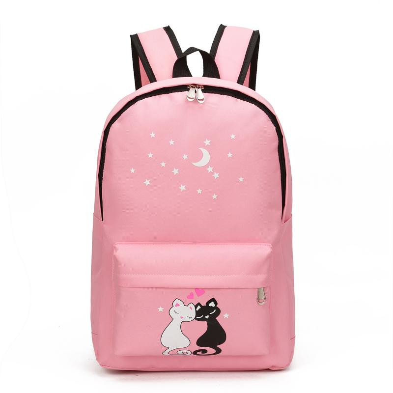 Bags For Teenagers Cute Animal Star Printing Women Canvas Backpack School  Bags For Teenagers Girls School Backpack Set Women Bookbags Hunting  Backpacks ... 09b1e1e4b7607
