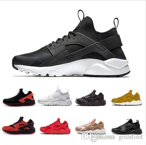 e5c1aaec1bfb Wholesale 2018 Huarache Running Shoes Men Women Triple White Black Red Grey  Mens Womens Huaraches Trainer Sports Shoes Sneakers Size 36 45 Lightweight  ...