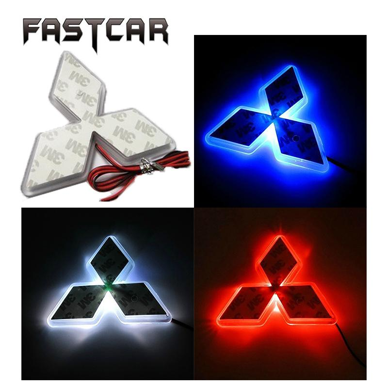 Logo Light Front Rear Emblem Logo Light For Mitsubishi Lancer