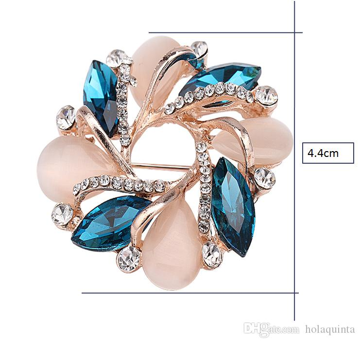 Broche fleur de haute qualité Style coréen Bauhinia Fleur Corsage Cristal Strass Broche Broche Bijoux