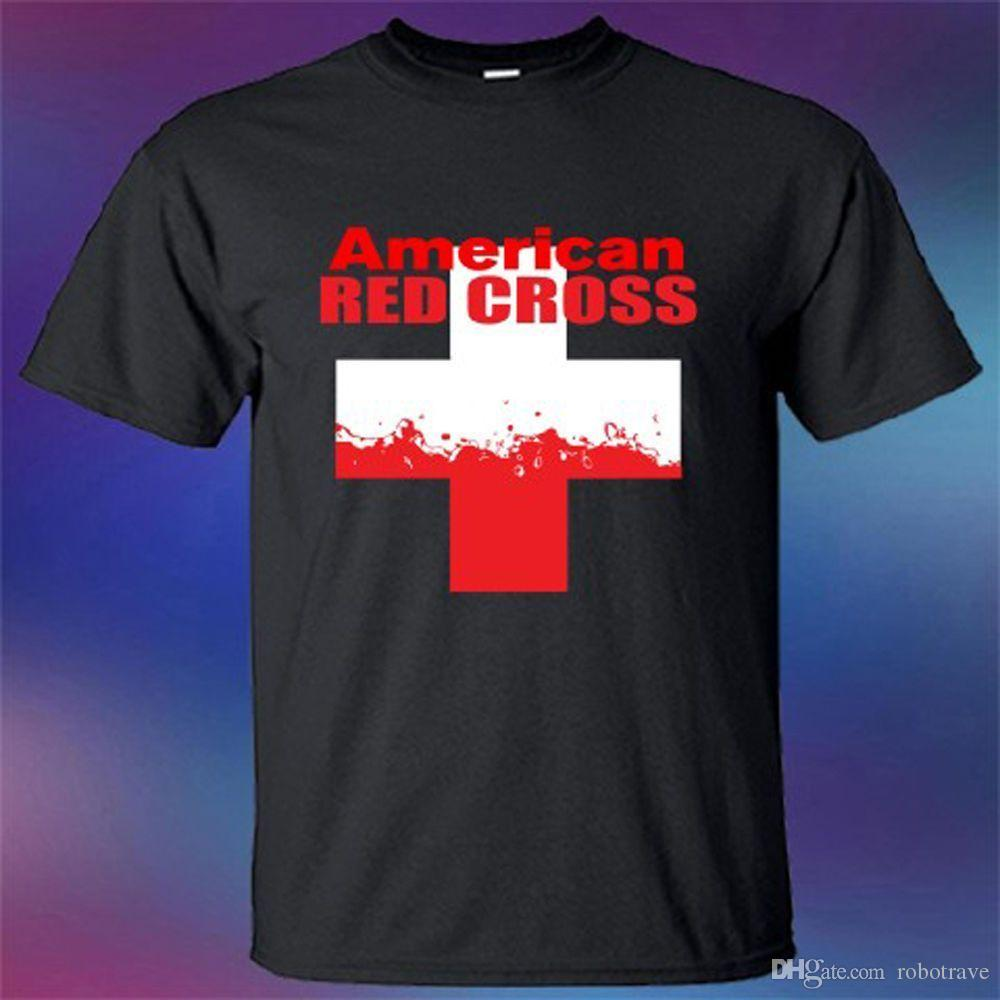7814b44e2 New American Red Cross Famous Organization Logo T Shirt T Shirts Design  Designer T Shirts From Robotrave, $10.61| DHgate.Com