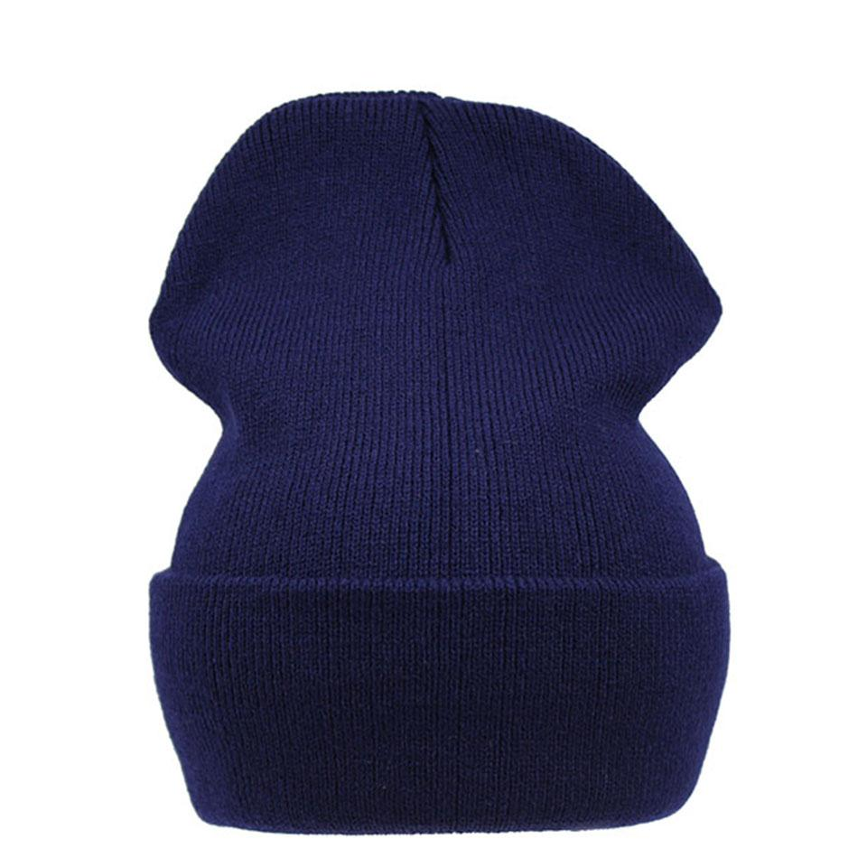 Unisex Knitted Beanie Hat Winter Plain Knitted Beanies For Women And Men  Acrylic Slouchy Hats Skullies Balaclava for Female Skullies   Beanies Cheap  ... bf49ea481bb