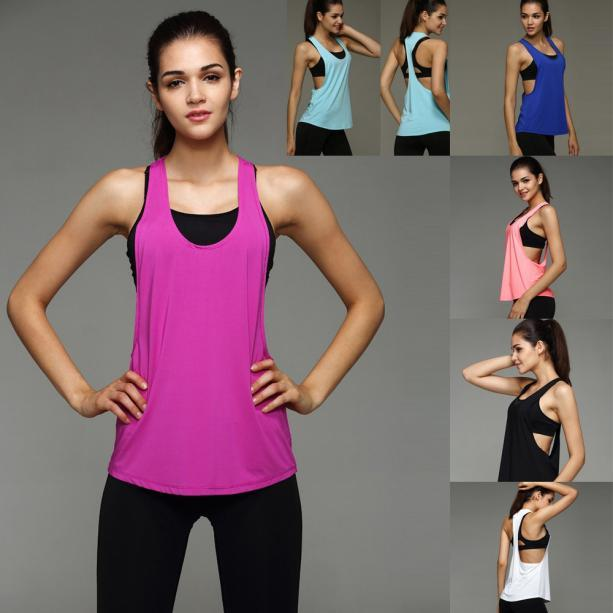 Лето Sexy Women топы Quick Dry свободные Blusas фитнес рукавов жилет Синглет Для и сексуальная рубашка топы Plus размер