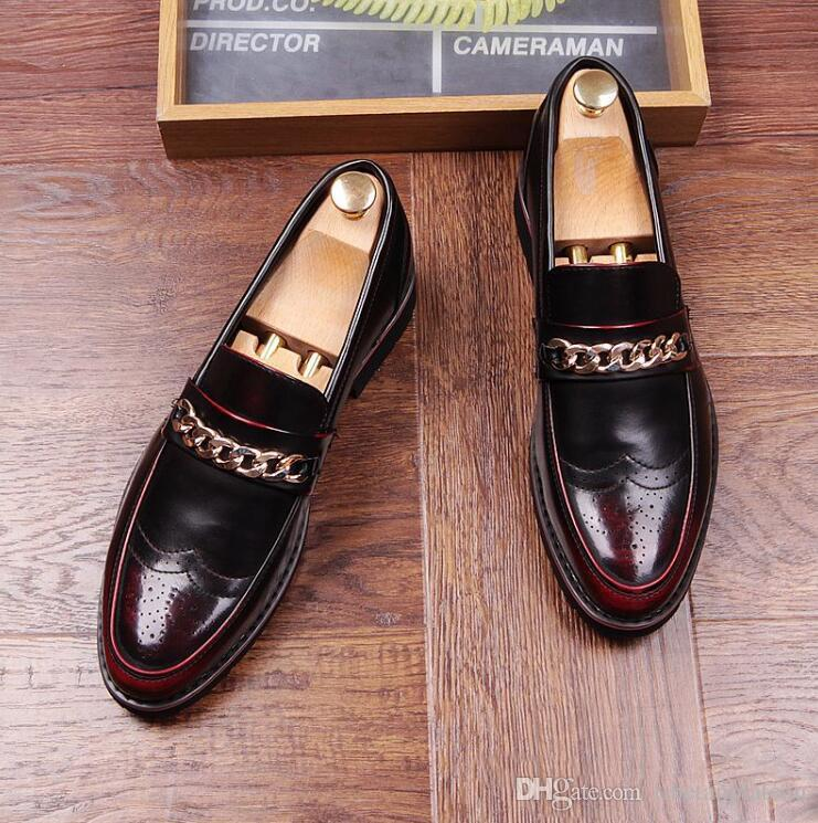 Men Bullock Dress Shoes Wedding And Prom Men Loafers Casual Shoes Slip On Moccasins  Chaussure Homme Online with  47.15 Piece on Tibetanplateau s Store ... efcb0d803c20