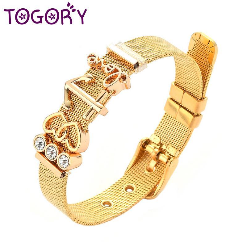b668ec4ed0db2 Fashion Stainless Steel Couple Bracelet Mesh Bracelet Hollow Heart To Heart  Anchor Charm Fine Woman Lover Jewelry
