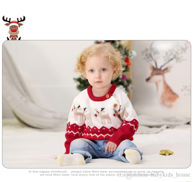 536ac9d15 New Year Sweaters For Baby Boys Girls Newborn Winter Sweater ...