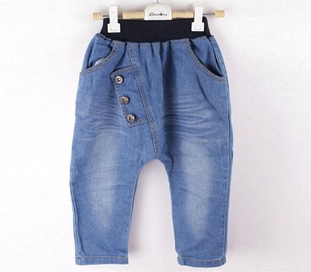 2016 autumn baby kids clothing baby jeans fashion boys harem pants suit for spring and autumn childrens trousers retail
