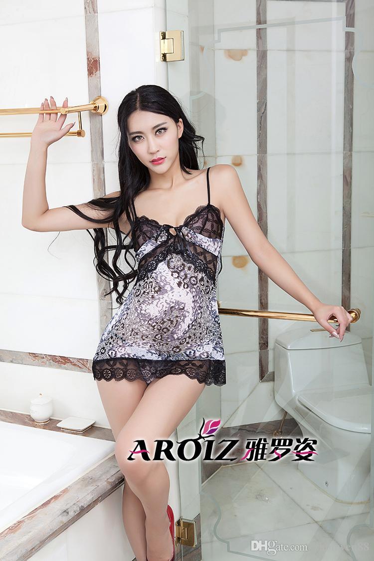 c1b2ee57a Pijama Longo Feminino Uniforme De Moda Sexy