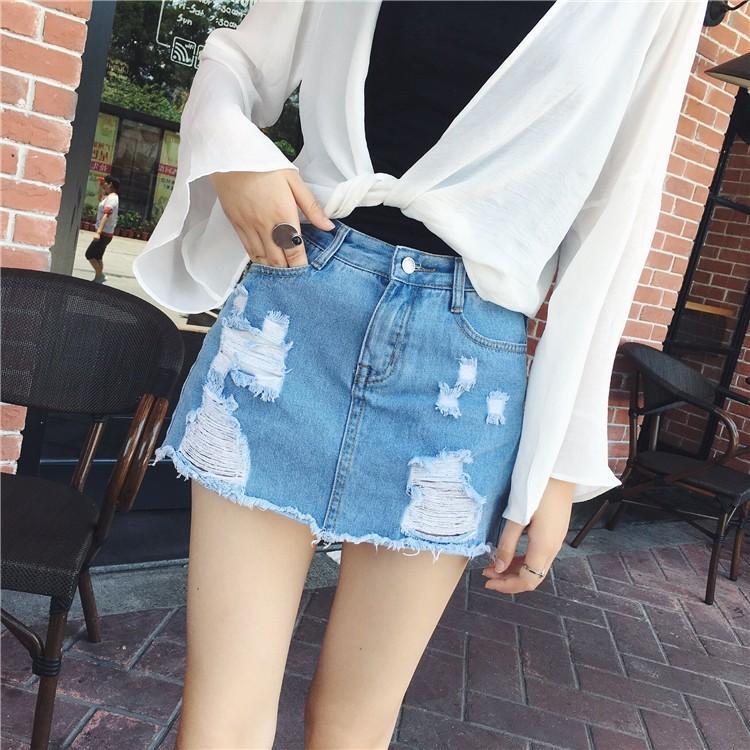 Compre Faldas Atractivas Para Las Mujeres 2018 Nuevas Faldas Del Dril De  Algodón Pantalones Cortos Del Dril De Algodón De La Cintura Alta Del Verano  ... 3ae41bcf4b77