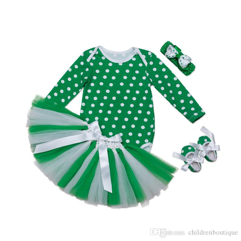 7eb2dce0cd7 2018 St. Patrick s Day Clothing Set Girls Cotton Long Sleeves Romper ...