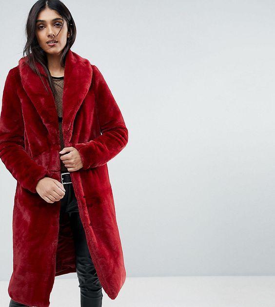 가을 겨울 턴 다운 칼라 긴 소매 와인 레드 재킷 가짜 모피 재킷 코트 패션 여성용 모피 코트 따뜻한 코트
