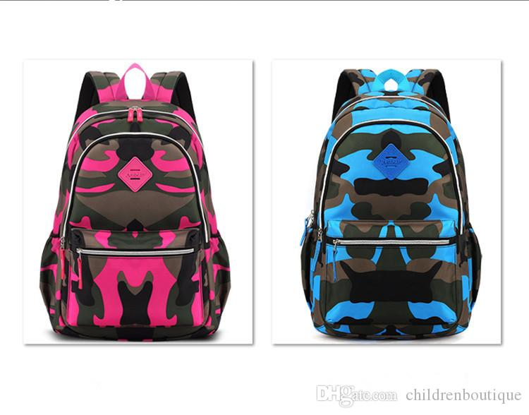 2018 Kids Backpack Camouflage Waterproof Nylon School Bags For Girls Boys  Orthopedic Children Backpack Kids Bag Grade 1 6 Mochila Escolar Backpacks  For Boys ... 599f5678b19d6