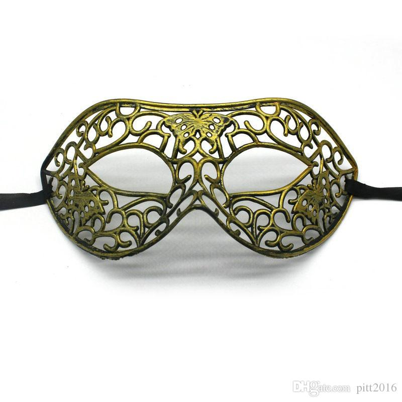 500PCS New Half Face Hollow Plastic Gold And Silver Colors Fancy Dress Retro Venetian Masquerade Party Masks ZA4843