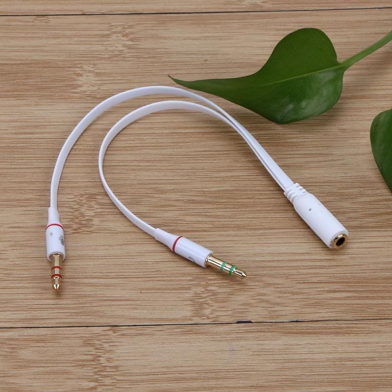 3.5mm 1 Ses Kablosu Tek delik Bilgisayar Kulaklık Mikrofon Adaptörü ile Conputer Smartphone için Mikrofon ile 3 Renk Yüksek Kalite