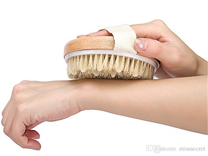 الاستحمام دش تدليك فرشاة شعيرات فرش تدليك الجسم فرشاة خشبية دش حمام التقشير غسل الجسم الغسيل