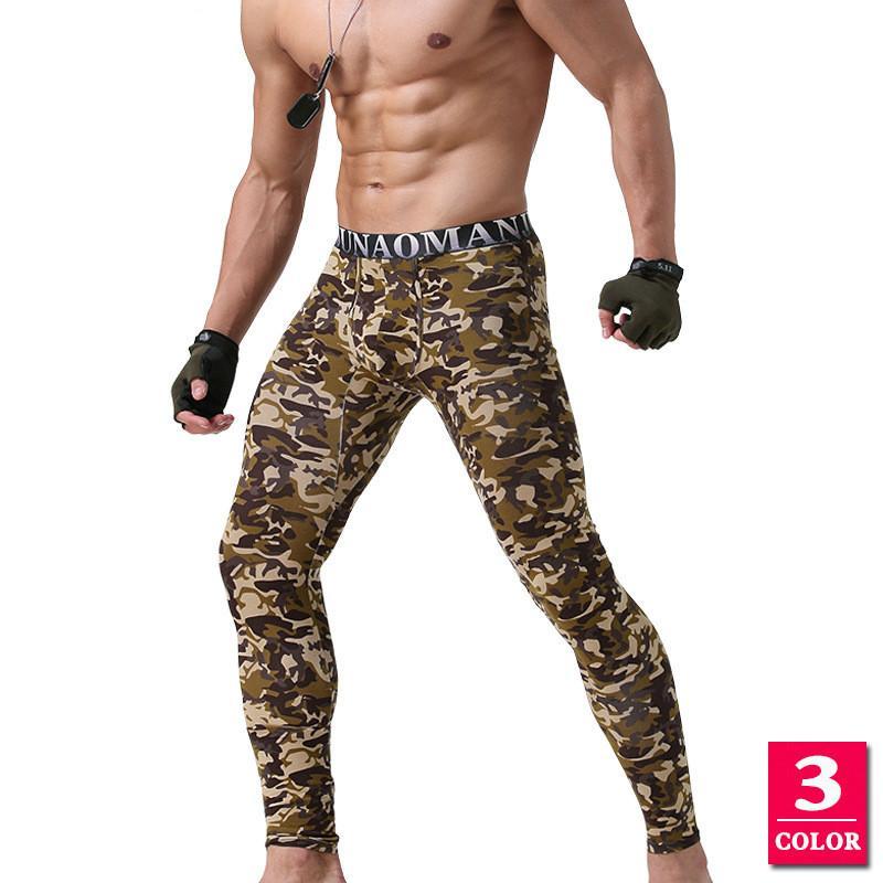 Compre Ropa Interior Térmica Para Hombre Leggings Impreso Camuflaje Hip Hop  Sexy Long John Otoño Leggins Hombre Térmica Pantalón Modal Masculino  Juventud A ... e02836c7bbd