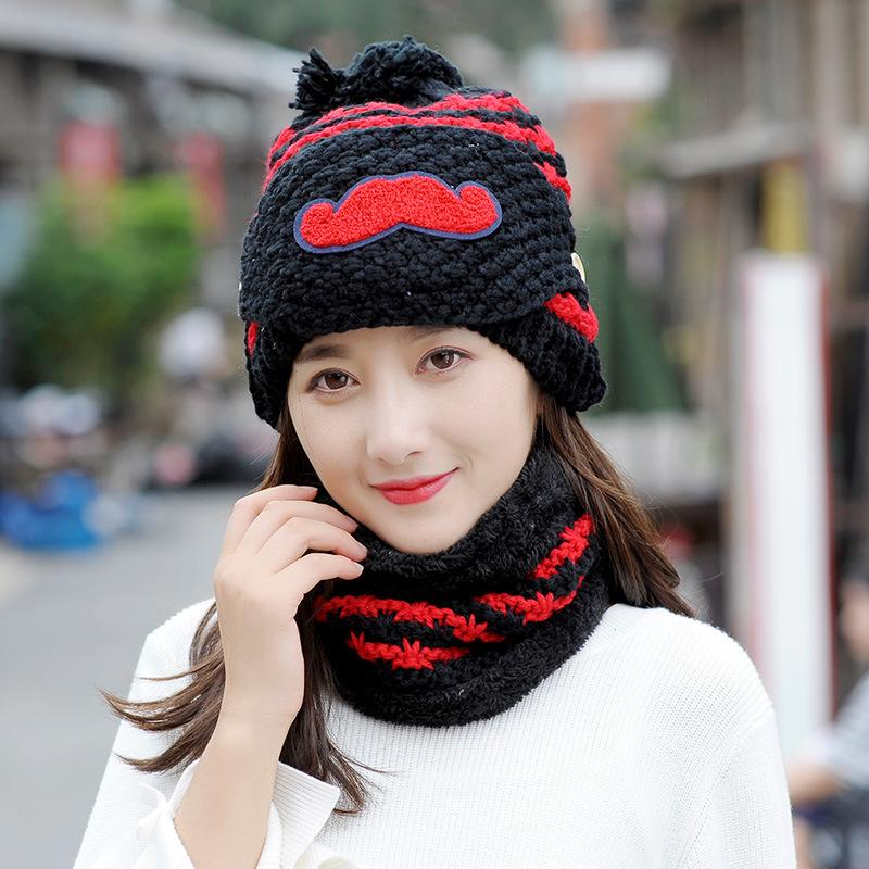 Winter Hats For Women Balaclava Skullies Beanies Winter Hat Pom Pom Warm  Knitted Women Hat Wool Fleece Lining Scarf Skull Caps Stocking Cap From  Jianyue16 cfb2fa7752