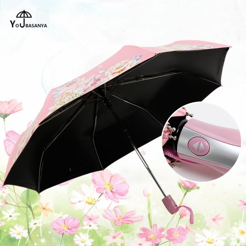 37783fb6b1422 2019 Chinese Style Automatic Umbrella Rain Women Folding Peony Flowers  Parasol Anti UV Brand Quality Windproof Big Paraguas Women Men From Pont,  ...