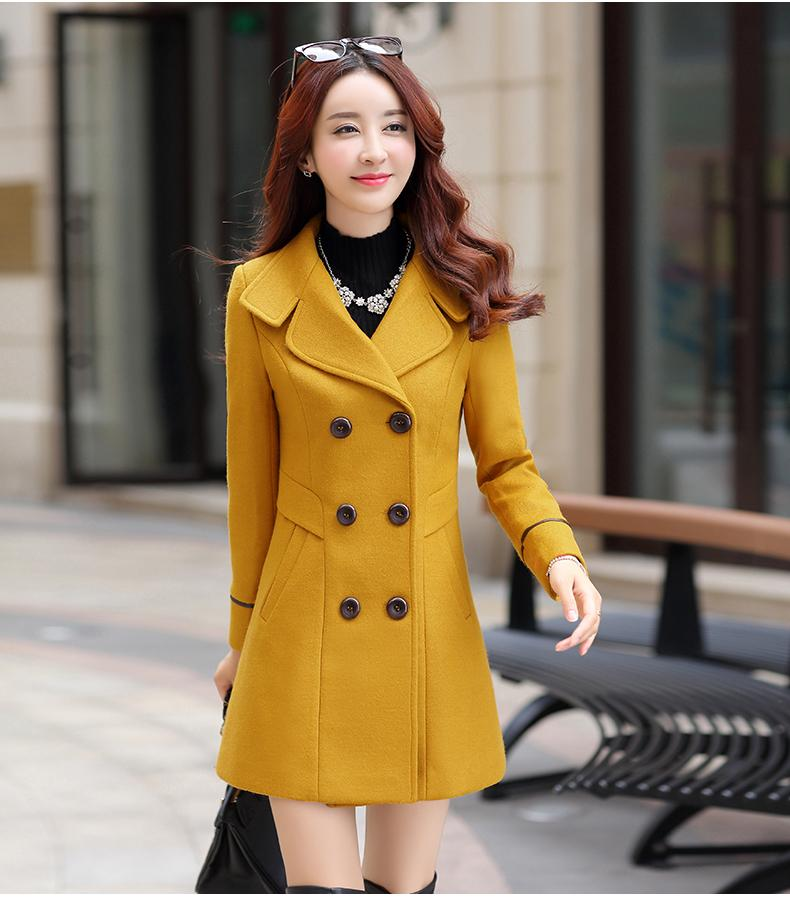 17fb4ef8a54b2 2019 2018 New Women Autumn Winter Outerwear Wool Blend Warm Long Coat Slim  Fit Lapel Woolen Overcoat Cashmere Female Plus Size From Beatricl