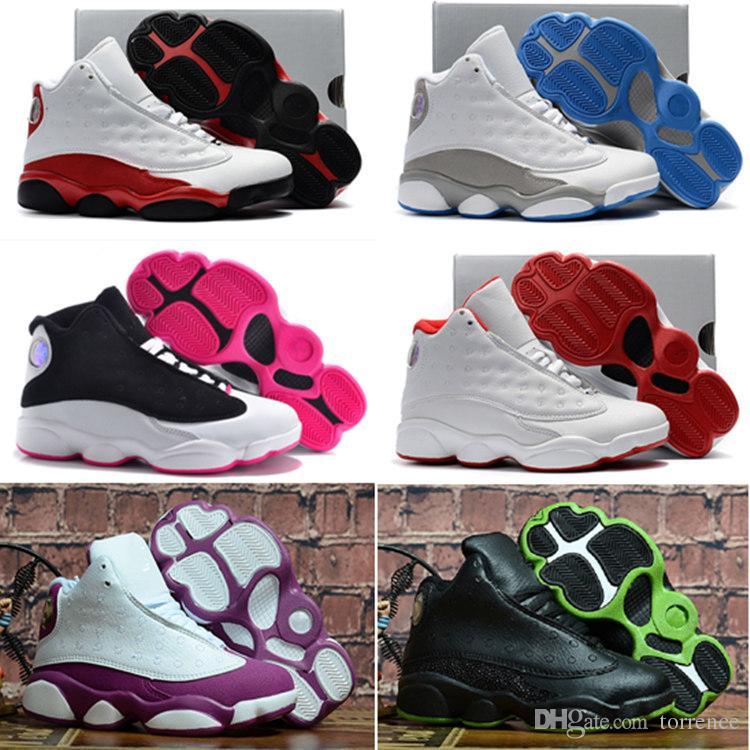 a8ea575c6c56 2018 High Quality Shoes 13 Kids Basketball Shoes 13 XIII 13s Boys ...