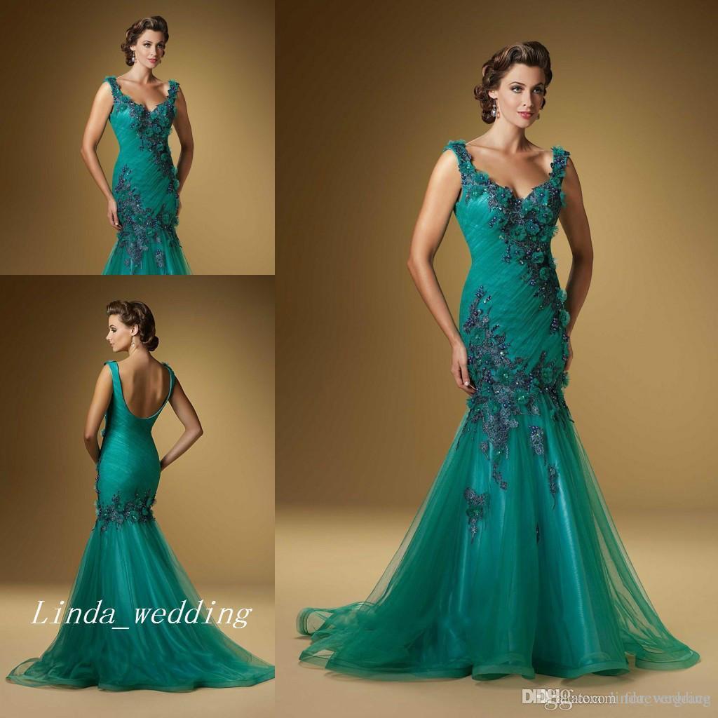 Vestido color azul jade