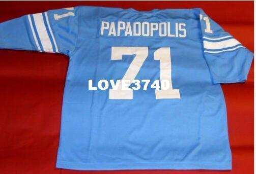 Maillot universitaire # 71 GEORGE PAPADOPOLIS CUSTOM ALEX KARRAS WEBSTER RETRO, taille s-4XL