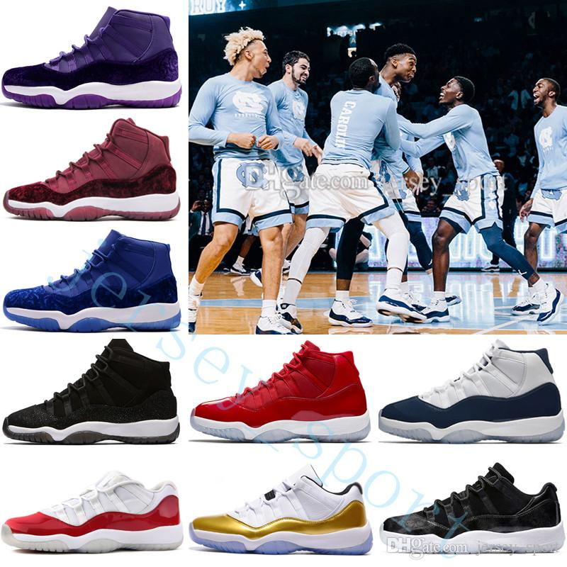 b0df35bedee 2019 Cheap NEW 11 Low White Red Navy Gum Basketball Shoes Bred Georgetown  Space Jam 45 Citrus GS Basketball Sneakers Women Men 11s Low Athletic X  From ...