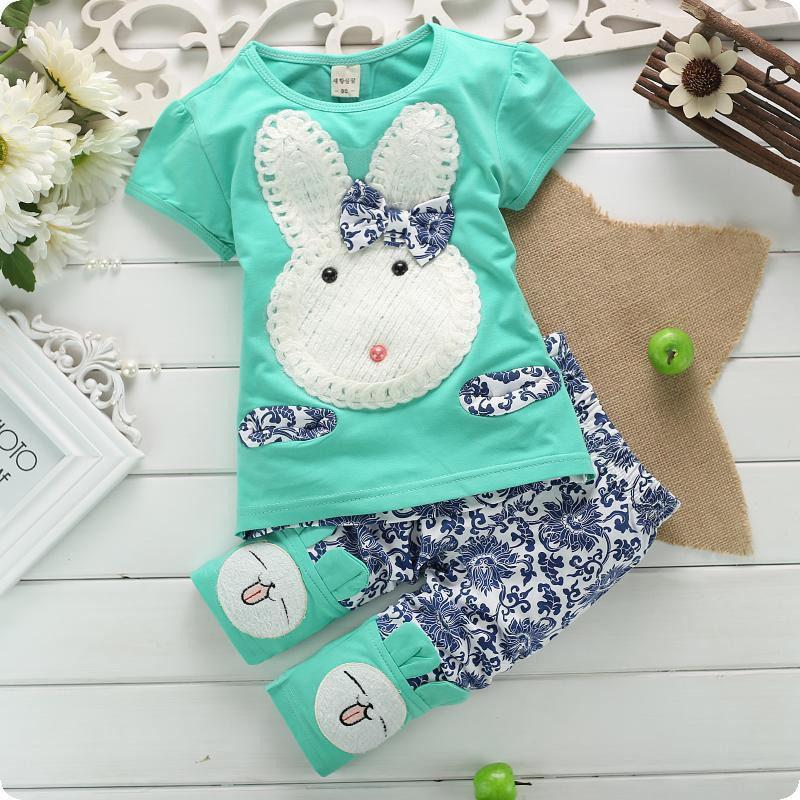 636e0a0e5478 2019 New Baby Girl Clothes Set Cute Rabbit Kids Top Pants Clothes Children  Clothing Summer Set Girls Costume Size1 4 Years From Deve, $29.45 |  DHgate.Com