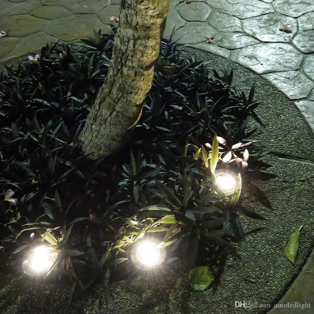 4 levou ao ar livre Luzes de Disco Solar Disk Luzes Solar lanternas portáteis ao ar livre caminhadas camping Jardim da escada Luzes