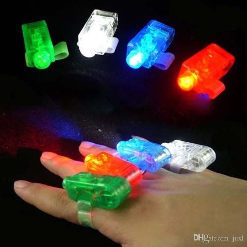 LED Finger Ring Beams Party Nightclub Gadget Glow Laser Light Torch