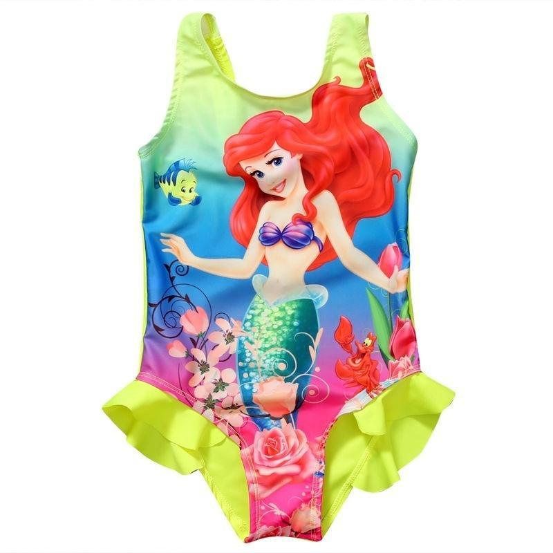 debac1ad4de34 Kids Baby Girls Toddler Ariel Swimsuit Swimwear Bathing Suit Bikini Tankini  Set