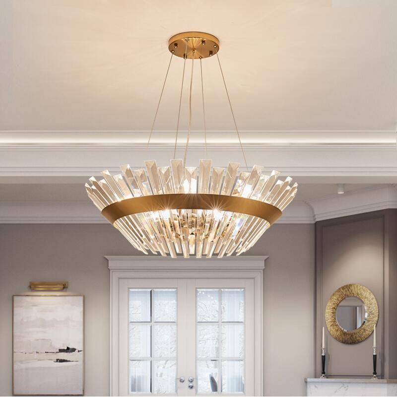 Großhandel Neue Luxus Runde Kristall Lampe Wohnzimmer Kronleuchter ...