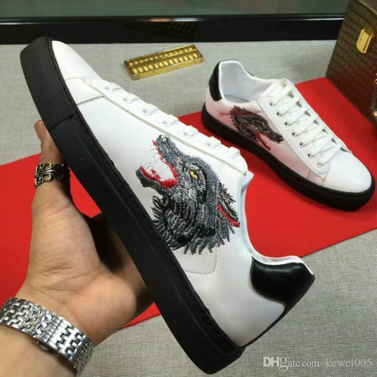 69800e541bb AAA Men s Flat Shoes European Handmade Shoes Chau Station Leather ...