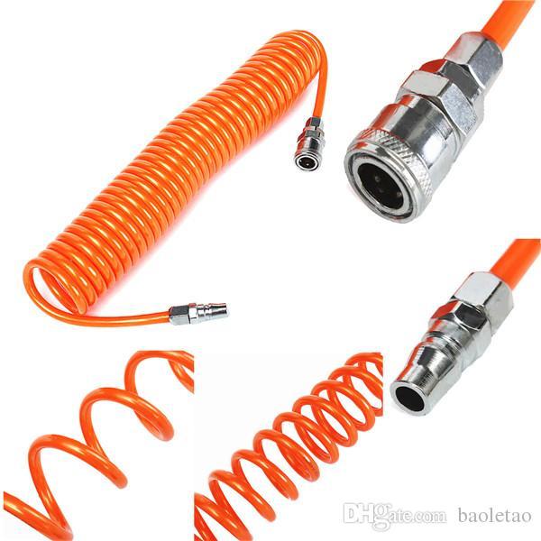 Tube de ressort de tuyau flexible de recul de 6M 8mmx5mm pour l'outil d'air de compresseur