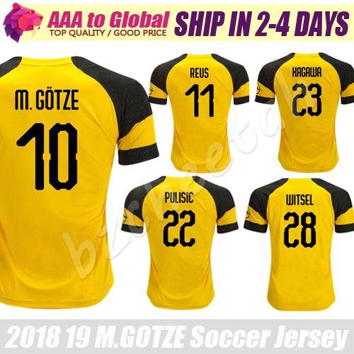 huge discount c5a71 1e780 Reus Soccer jersey 2019 Trikot Mario Gotze Kagawa Piszczek Pulisic Soccer  Jersey Borussia Dortmund Football shirts
