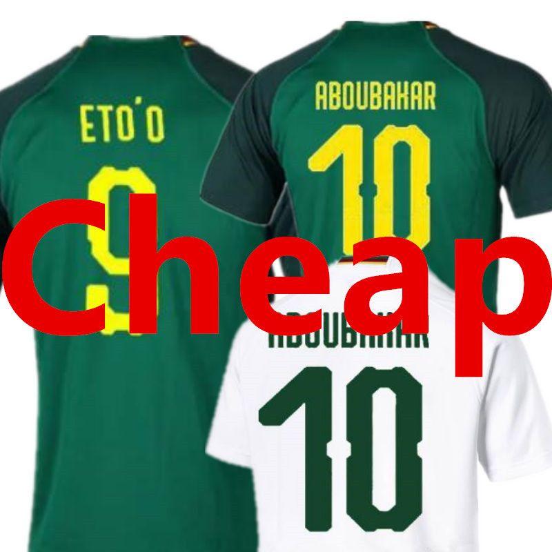 a8168aa9014 Wholesale Cameroon Soccer Jerseys World Cup 2018 ETOO ABOUBAKAR AAA Top  Thailand National Team Home Away Green Thailand Cheap Football Shirt
