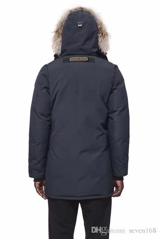 Big raccoon Fur 2017 Brand New Mens thick Goose Down Fire Rhinoceros CHATEAU Parka Coat Winter Warm Jacket