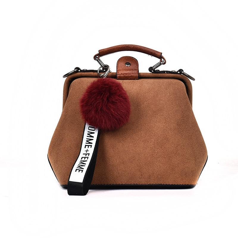 16eab97bfc6e Women Messenger Bags Top Handle Handbag Nubuck Leather Doctor Bag Frame New  Designer Shoulder Women PU Leather Handbags Tote Bag Luxury Handbags  Leather ...