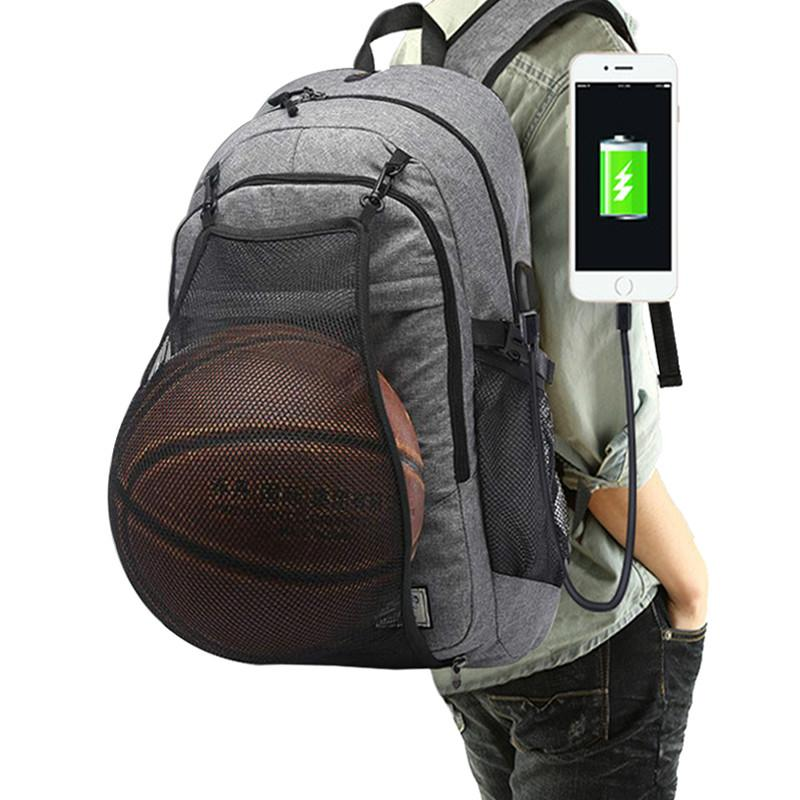2f405eccba58 Outdoor Men s Basketball Backpack School Bags For Teenager Boys Soccer Ball  Pack Laptop Bag Football Net Gym Bag Basketball Backpack Outdoor Sports Gym  Bags ...